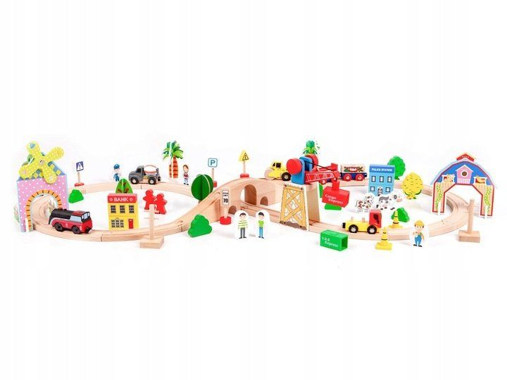 Железная дорога Eco Toys 78 предметов HM008999