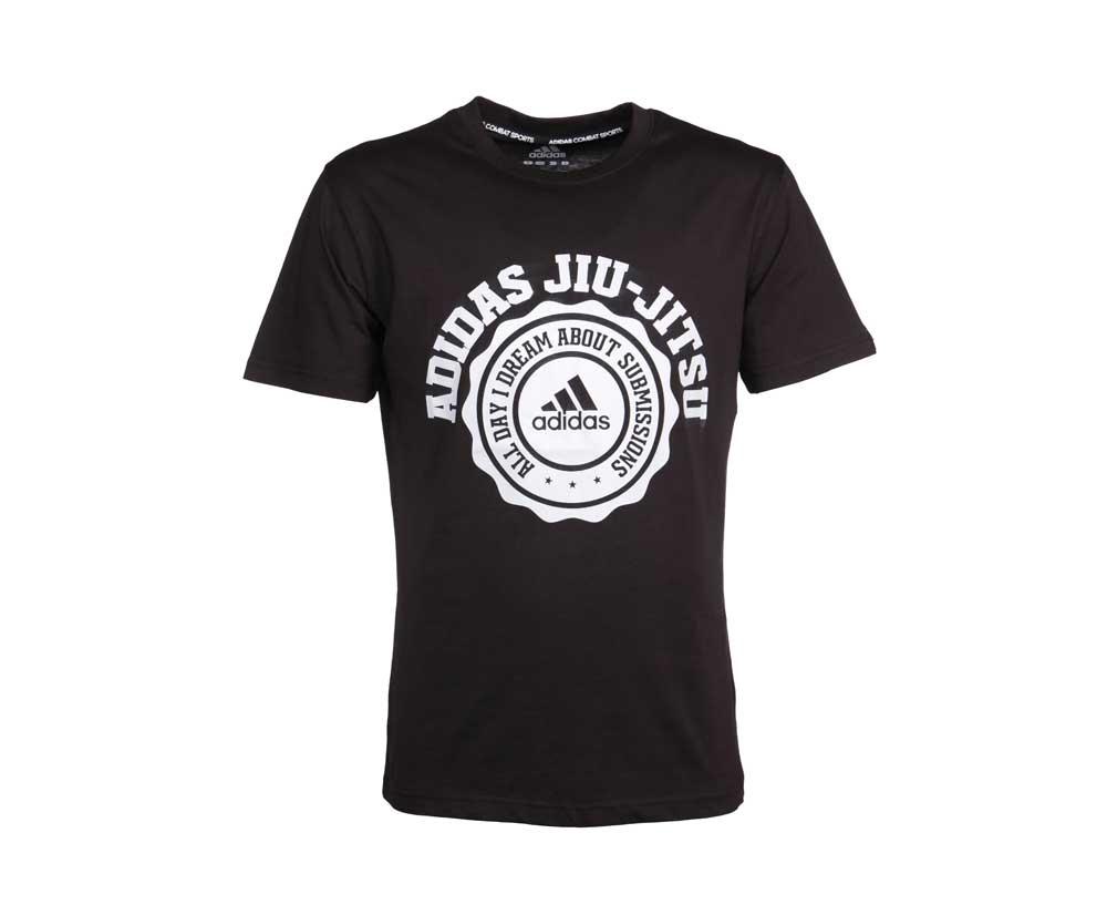 Футболка Adidas Leisure All Day Tee Jiu-Jitsu черная, артикул adiBJJTS03