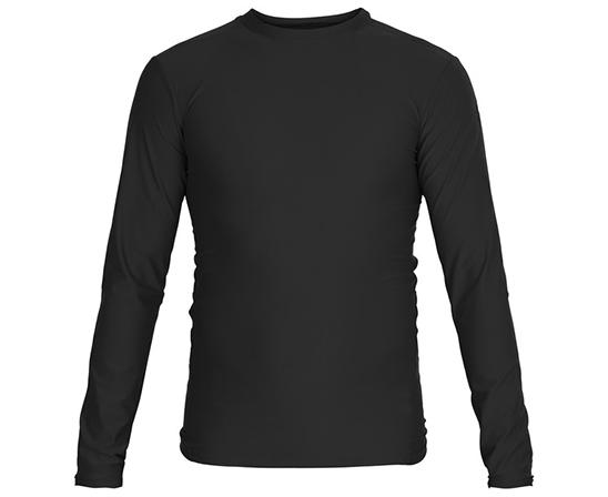 Футболка Adidas компрессионная (Рашгард) Rush Guard Long Sleeve чёрная, артикул adiTS313