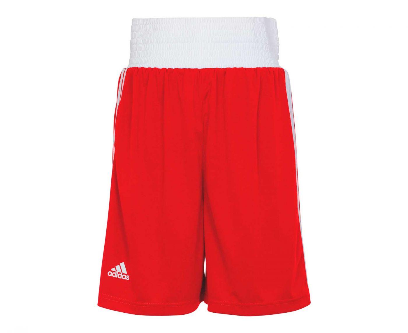 Шорты боксерские Adidas Boxing Short Punch Line красные, артикул adiBTS02