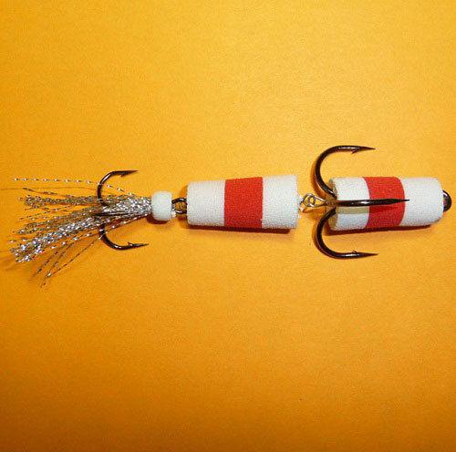 Приманка джиговая Флажок №1 белый/красный/белый F3000006