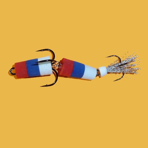 Приманка джиговая Флажок №1 красный/синий/белый F3000011