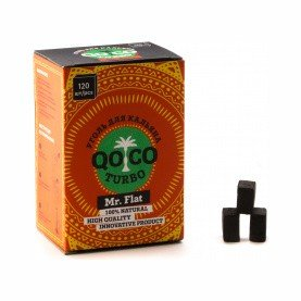 Уголь Qo Coco Turbo - Mr. Flat (22x22x17 мм, 120 кубиков)