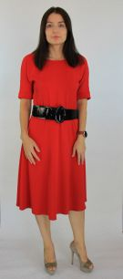 Платье красное 2134