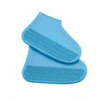 Водонепроницаемые защитные чехлы для обуви Waterproof Silicone Shoe Cover, размер S, синий