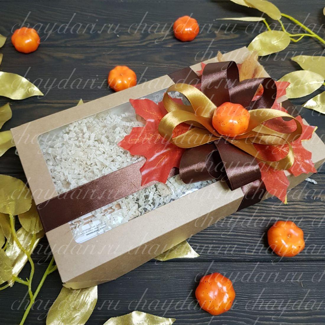 """Коробка с чаем и сладостями """"Осенняя тыковка"""""""