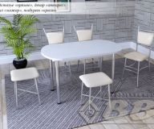 Стол обеденный пластик нераздвижной 1100*700мм