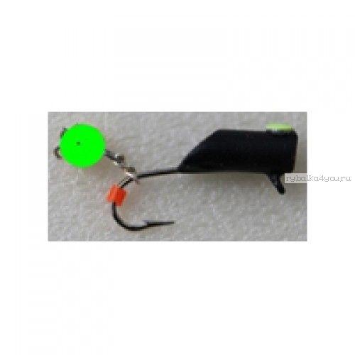 Столбик черн с неоном на цепи  Mikado 3 мм / 0,9 гр