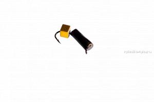 Столбик золото с кубиком  Mikado 2 мм / 0,5 гр