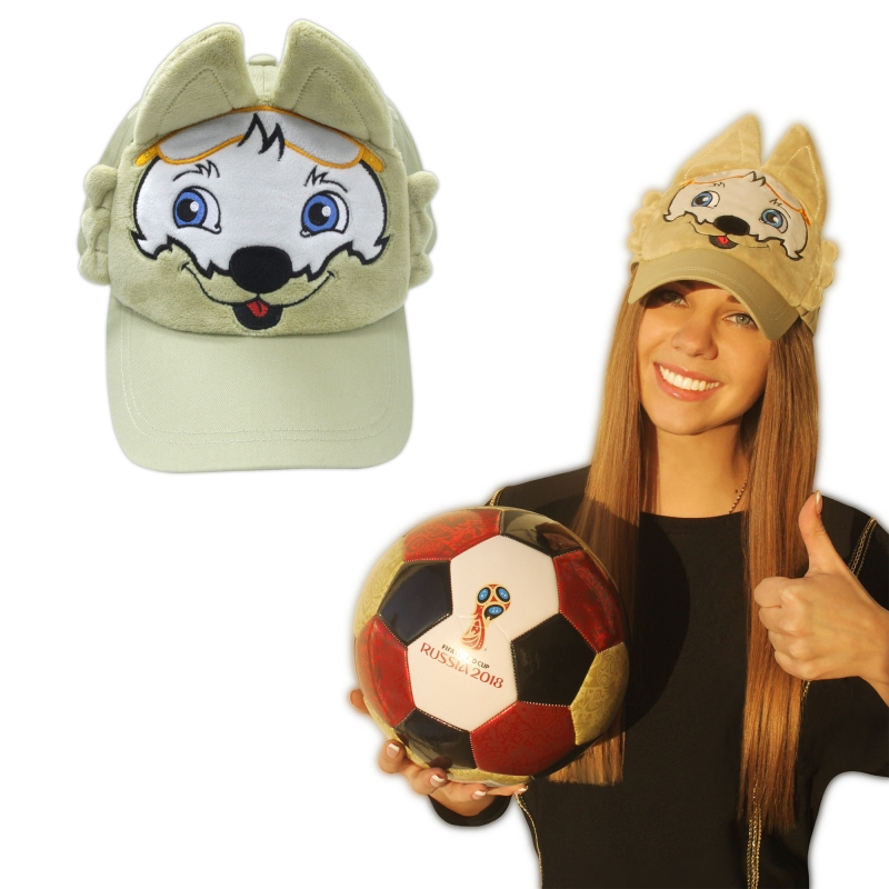 FIFA-2018 плюшевая кепка Zabivaka (взрослая), 58 размер