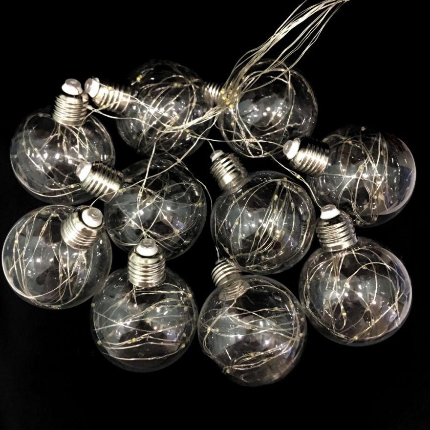 Светодиодная гирлянда Ретро-лампы, 3 м(Цвет: Белый холодный)