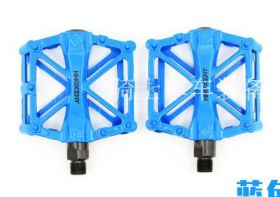Педали велосипедные алюминиевые голубые