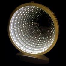 Зеркальный ночник с эффектом бесконечности круглой формы