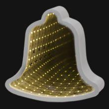Зеркальный ночник с эффектом бесконечности в форме колокольчика
