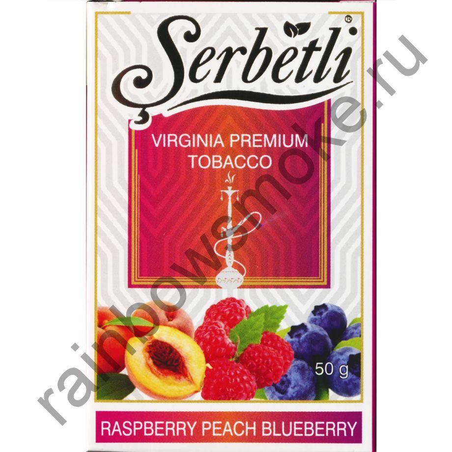 Serbetli 50 гр - Raspberry Peach Blueberry (Малина Персик Черника)