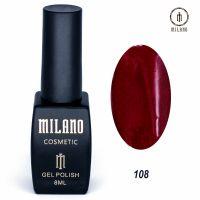 Гель-лак Milano Cosmetic №108, 8 мл