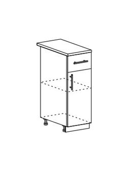 Шкаф нижний с 1 ящиком Модена ШН1Я 300