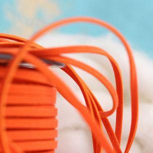 Шнур из искусственной замши -  Оранжевый