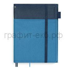 Бизнес-органайзер Феникс+ 190х232 Наппа т-синий/полиэстер синий лин+кл+точка 50317