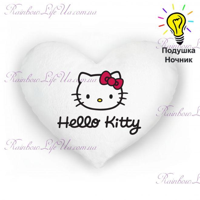 "Подушка сердце светящаяся ""Hello Kitty"""