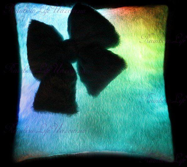 """Подушка - ночник светящаяся """"Бантик"""""""