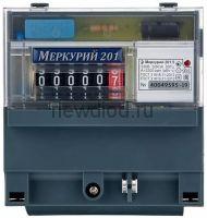Электросчетчик Меркурий 201.5 на DIN-рейку 5-60А/220В 1Ф 1т. Механика