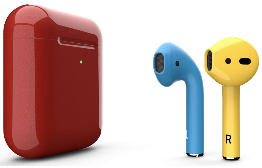 Наушники Apple AirPods 2 Color (чехол c беспроводной зарядкой)
