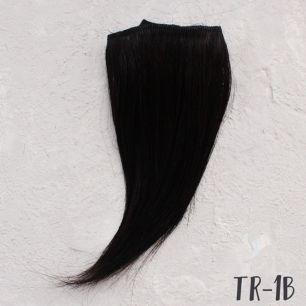 Тресс натуральный (козочка) - Чёрный прямой 15 см