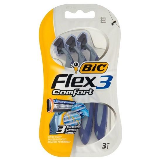 BIC Flex3 Comfort станки с 3 лезвиями одноразовые, 3 штуки