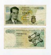 Бельгия 20 франков 1964 VF