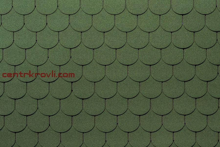 Гибкая черепица Tegola/Norland/Антик/Зелёный