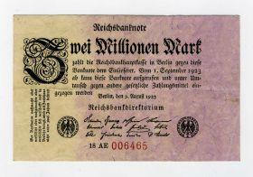 Германия 2 000 000 марок 1923 VF с номером