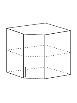 Шкаф верхний угловой Юлия ШВУ 600