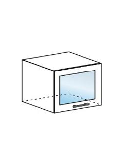 Шкаф горизонтальный со стеклом Юлия ШВГС 500