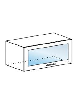 Шкаф горизонтальный со стеклом Юлия ШВГС 800