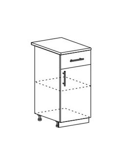 Шкаф нижний с 1 ящиком Юлия ШН1Я 400