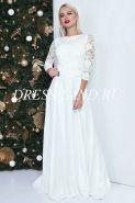 Белый костюм-двойка (топ+юбка в пол)