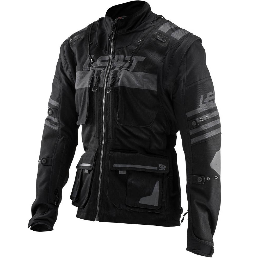 Leatt - GPX 5.5 Enduro Black мотокрутка, черная