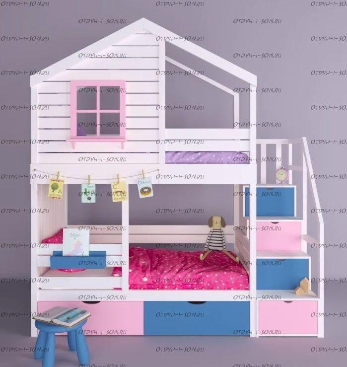 Двухъярусная кровать-домик Roof №8F