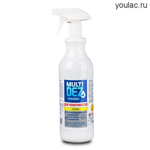 Мультидез Тефлекс для поверхностей Lemon ,1 л
