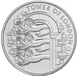 Королевский зверинец. Лондонский Тауэр 5 фунтов Великобритания 2020 на заказ