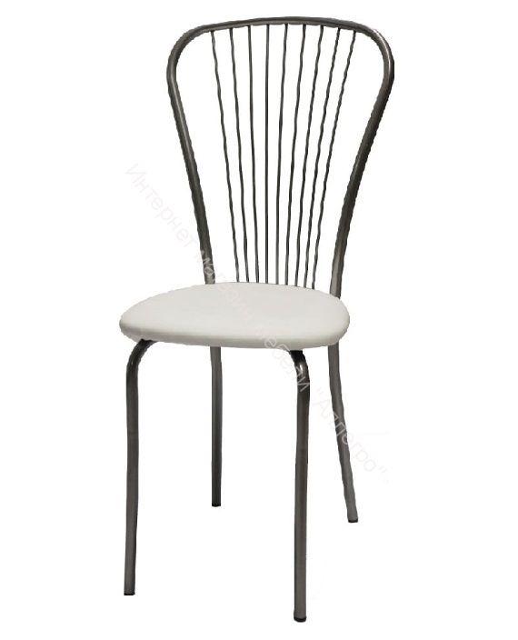 """Кухонный стул """"Лайт 1"""" белая рептилия/серебристый металлик"""