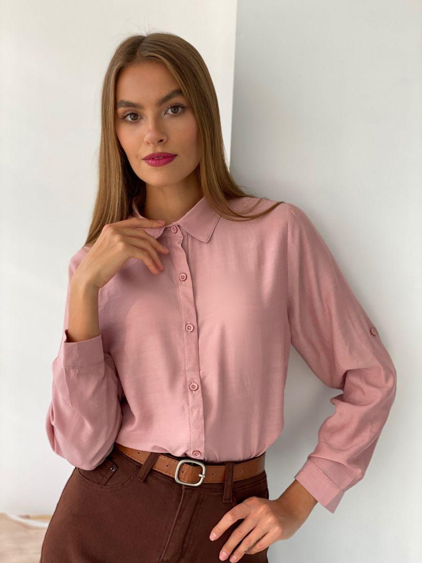 s2651 Рубашка классическая пудровая