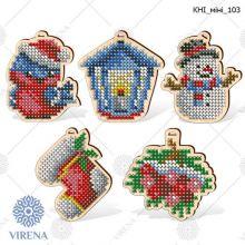 КНІ_МІНІ_103 Virena. Комплект фигурок из дерева для вышивки бисером (набор 1025 рублей)