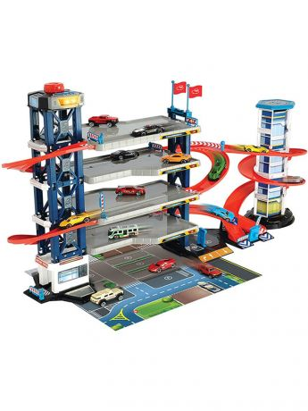 Парковка 4 уровня, 4 машинки и 1 вертолет мDickie Toys 3749008