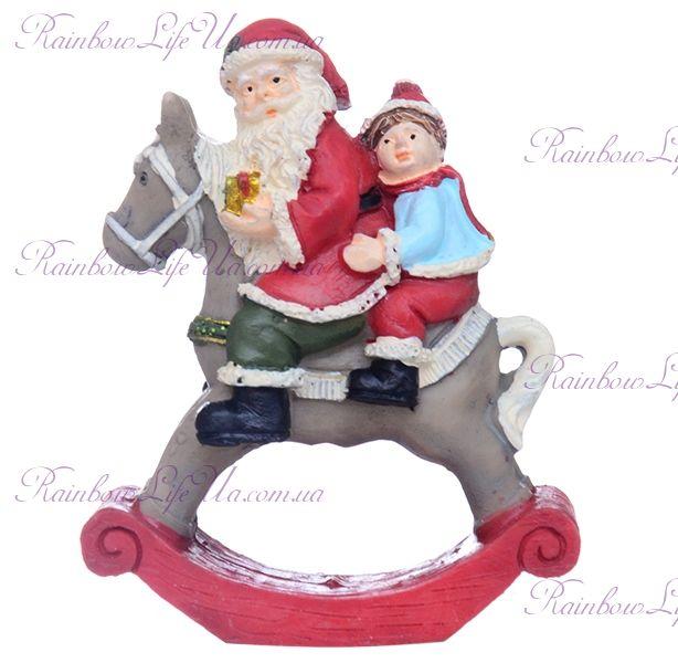 "Фигурка новогодняя ""Санта на лошадке"""