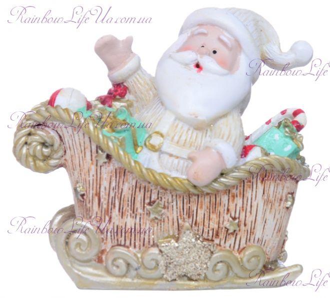 """Фигурка новогодняя """"Санта в санях"""""""