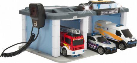 Набор спасательный центр с 3 машинками свет звук рация Dickie Toys 3716015