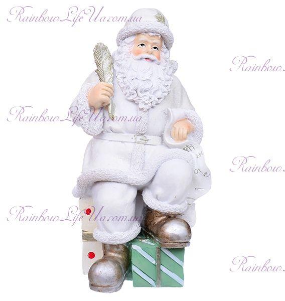 """Статуэтка новогодняя """"Санта с пером"""""""