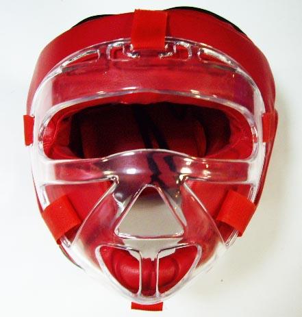 Шлем маска CLIFF, кожа, красный, размер L, Пакистан